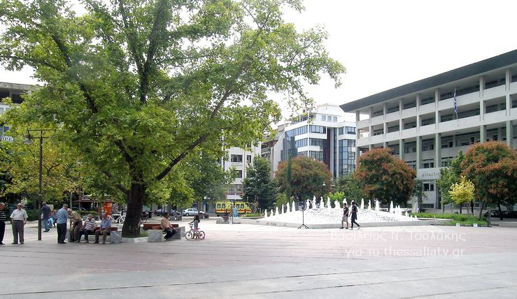 Η κεντρική πλατεία της Λάρισας - Δημάρχου Σάπκα